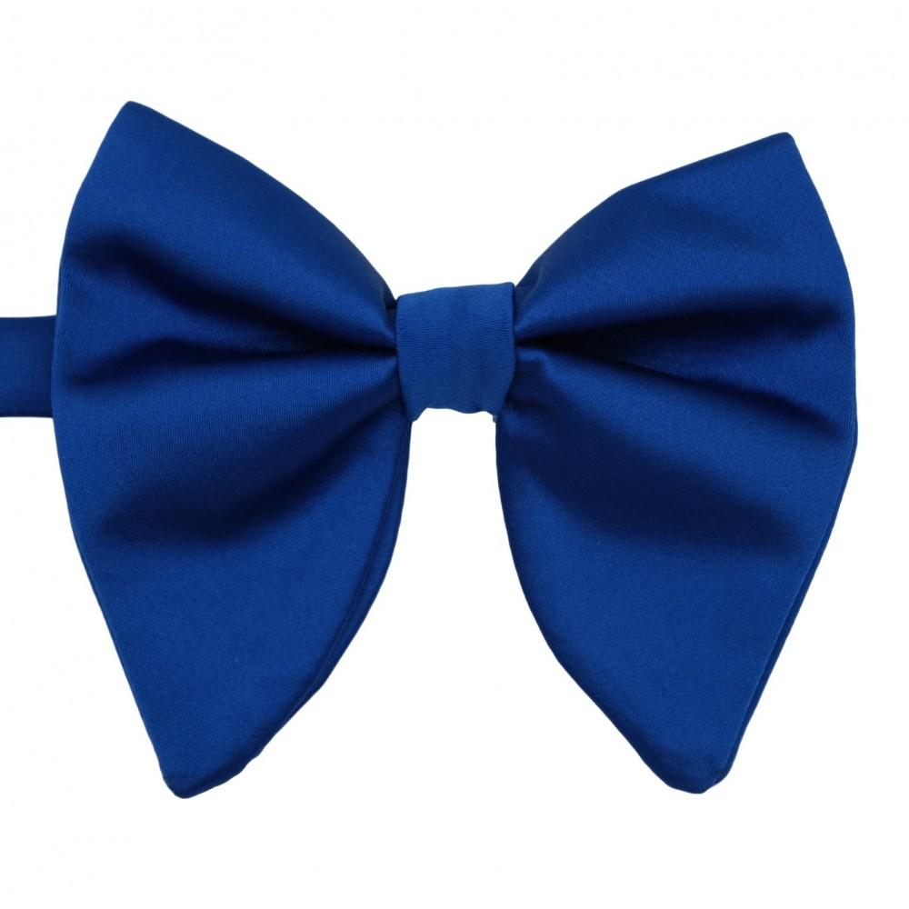 Noeud papillon homme en tissu surdimensionné. Bleu Roi uni