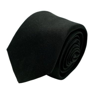 Cravate homme de marque Ungaro. Noir uni