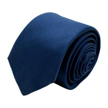 Cravate homme de marque Ungaro. Bleu marine uni