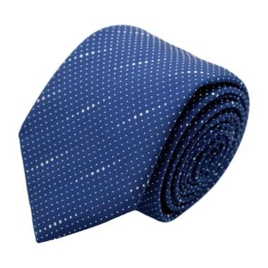 Cravate homme de marque Ungaro. Bleu roi à pois