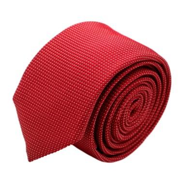 Cravate homme de marque Ungaro. Rouge à très fins pois blancs