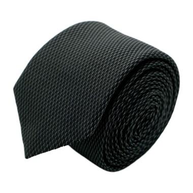 Cravate homme de marque Ungaro. Noir à petits motifs en losange