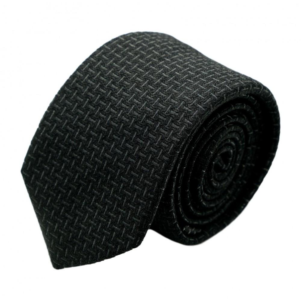 Cravate homme de marque Ungaro. Noir à motifs