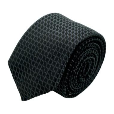 Cravate homme de marque Ungaro. Noir à motifs en vague