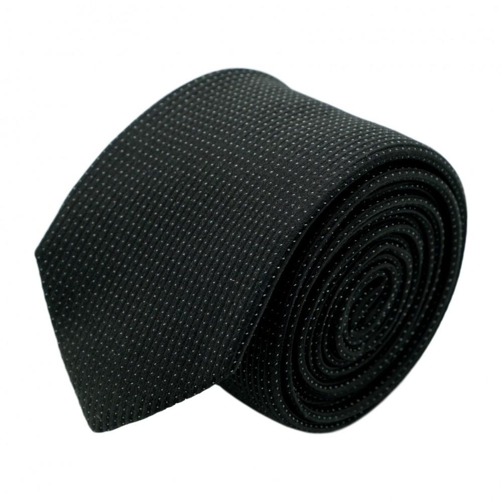 Cravate homme de marque Ungaro. Noir à effet brilliant