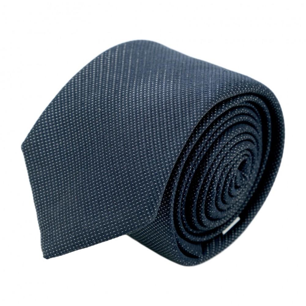 Cravate homme de marque Ungaro. Bleu marine à effet brilliant
