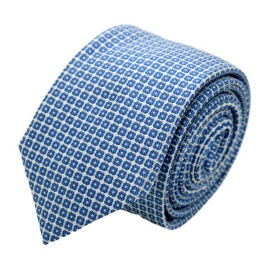 Cravate homme de marque Ungaro. Bleu ciel à motifs carrés