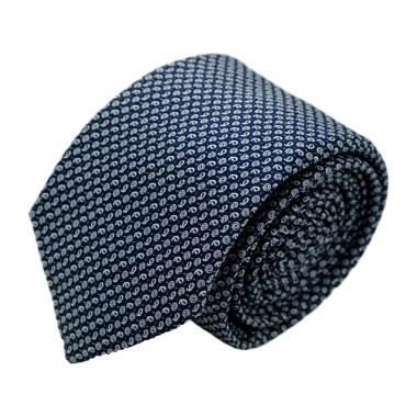 Cravate homme de marque Ungaro. Bleu marine à motifs fantaisie