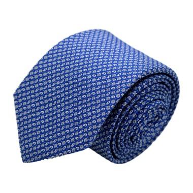 Cravate homme de marque Ungaro. Bleu roi à motifs fantaisie