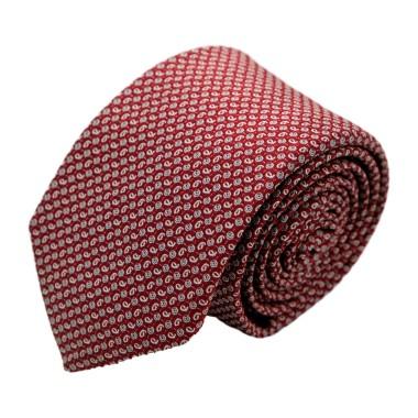 Cravate homme de marque Ungaro. Bordeaux à motifs fantaisie