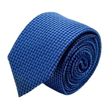 Cravate homme de marque Ungaro. Bleu à motifs carrés