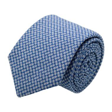 Cravate homme de marque Ungaro. Bleu ciel à petits carrés