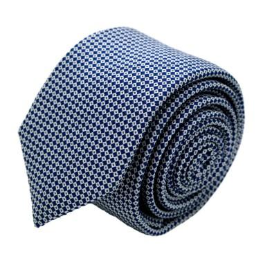 Cravate homme de marque Ungaro. Bleu marine à petits carrés