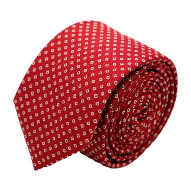 Cravate homme de marque Ungaro. Rouge à petits carrés