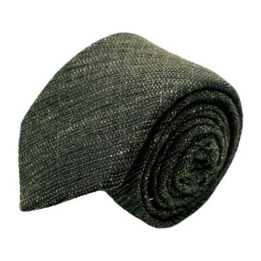 Cravate homme de marque Ungaro. Marron chiné en coton et soie