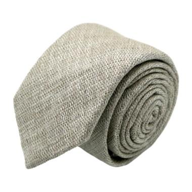 Cravate homme de marque Ungaro. Beige en coton et soie