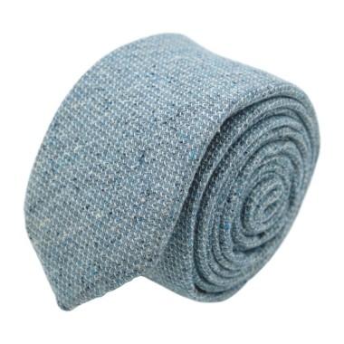 Cravate homme de marque Ungaro. Bleu chiné en coton et soie