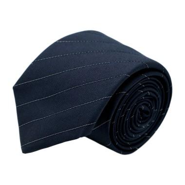 Cravate homme de marque Ungaro. Bleu marine à fines rayures blanches