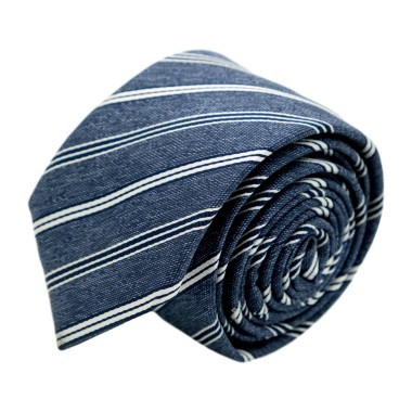 Cravate homme de marque Ungaro. Bleu à rayures bleues et blanches
