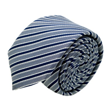 Cravate homme de marque Ungaro. Bleu marine à rayures
