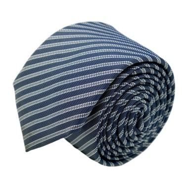 Cravate homme de marque Ungaro. Gris bleuté à rayures