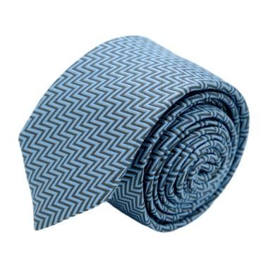"""Cravate homme de marque Ungaro. Noir et Bleu à motif """"Zig-Zag"""""""