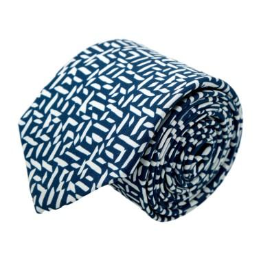 Cravate homme de marque Ungaro. Bleu motif fantaisie