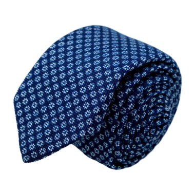 Cravate homme de marque Ungaro. Bleu à petites fleurs