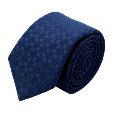 Cravate homme de marque Ungaro. Bleu marine à motifs carrés