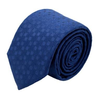 Cravate homme de marque Ungaro. Bleu roi à motifs carrés