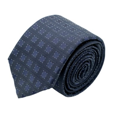 Cravate homme de marque Ungaro. Bleu marine à grands carrés
