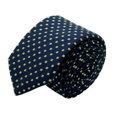 Cravate homme de marque Ungaro. Bleu marine à motifs jaunes