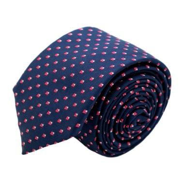 Cravate homme de marque Ungaro. Bleu marine à motifs rouges