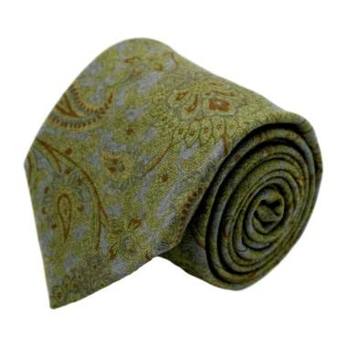 Cravate homme de marque Gianfranco Ferré. Vert à Paisley en laine