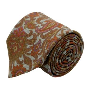 Cravate homme de marque Gianfranco Ferré. Marron à Paisley en laine