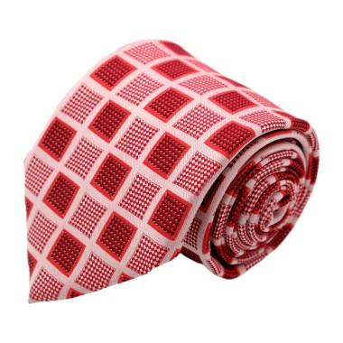 Cravate homme de marque Gianfranco Ferré. Rouge à grands carrés