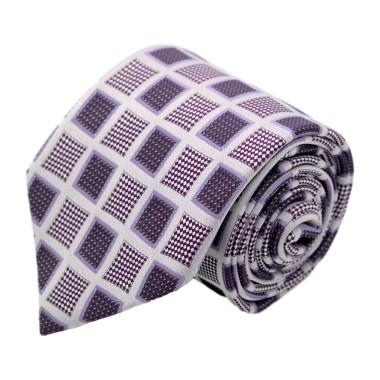 Cravate homme de marque Gianfranco Ferré. Violet à grands carrés