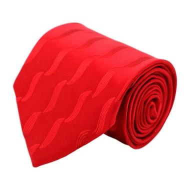 Cravate homme de marque Gianfranco Ferré. Rouge à motifs en surimpression