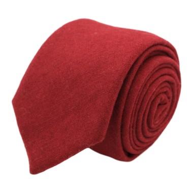 Cravate mode en Laine mélangée pour Homme. Rouge uni