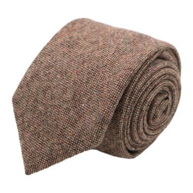 Cravate mode en Laine mélangée pour Homme. Marron Oeil-de-Perdrix