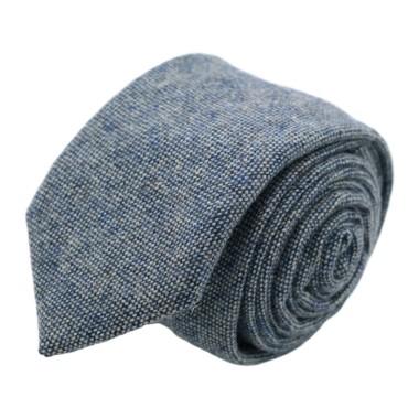 Cravate mode en Laine mélangée pour Homme. Bleu ciel Oeil-de-Perdrix