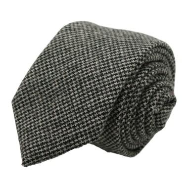 Cravate mode en Laine mélangée pour Homme. Gris Pied-de-Poule