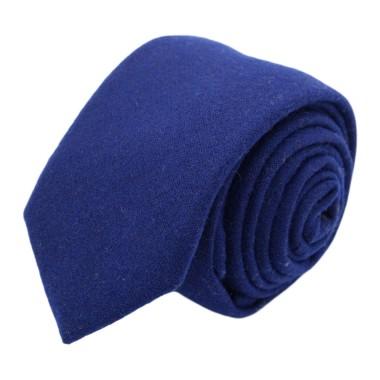 Cravate mode en Laine mélangée pour Homme. Bleu Roi uni