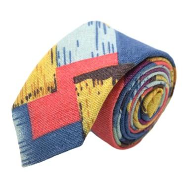 Ensemble Cravate et Pochette d'été Fleuri pour Homme. Multicolor