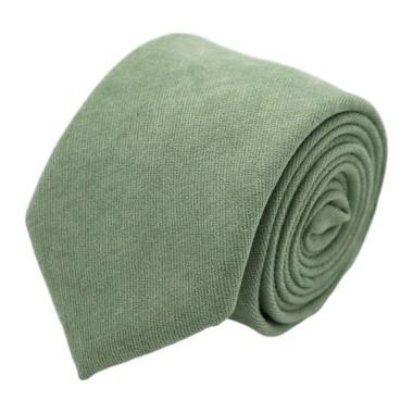 Cravate en velours côtelé (fines côtes). Vert