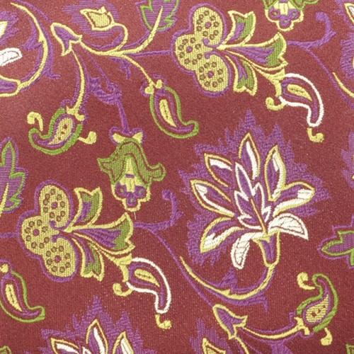 Cravate Saint Hilaire. Bordeau fleuri.