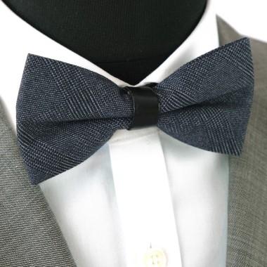 Noeud Papillon pour Homme mode anglaise. Bleu marine à grands carreaux