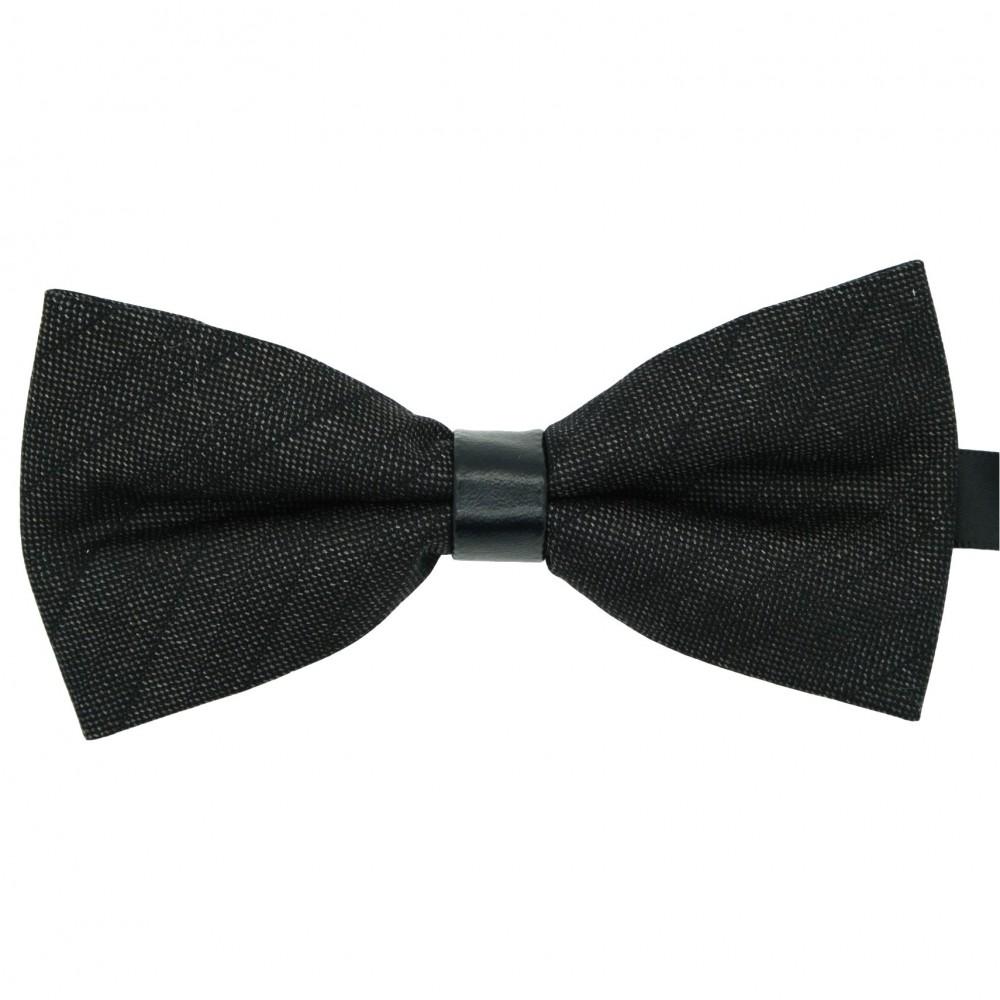 Noeud Papillon pour Homme mode anglaise. Noir à fins careaux
