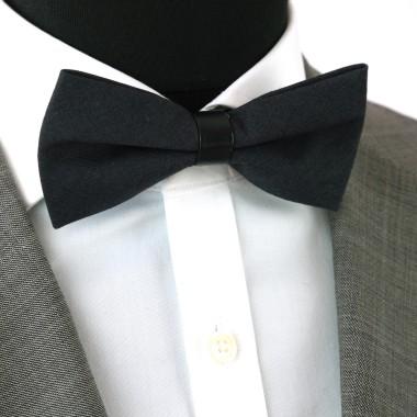 Noeud Papillon pour Homme mode anglaise. Noir uni