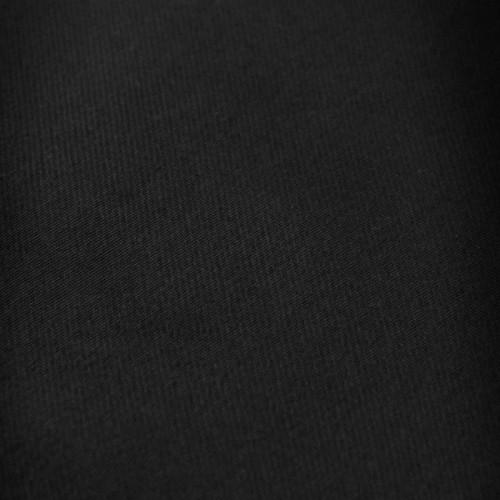Cravate Attora. Noir uni. 100% soie